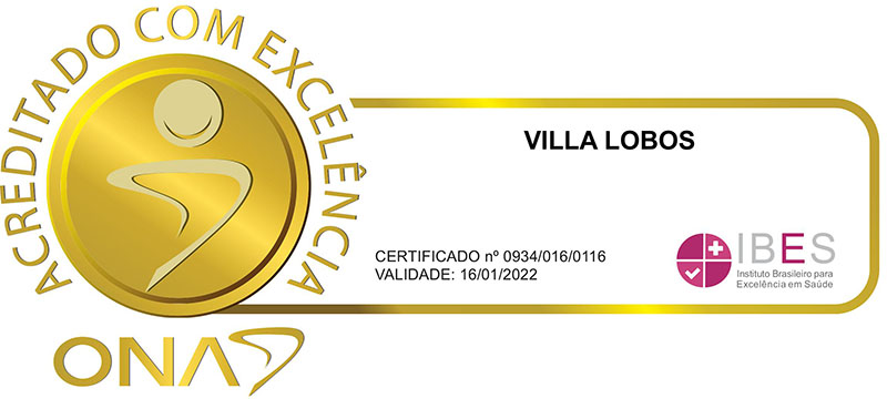 acreditado com excelência - VILLA LOBOS REDE DOR