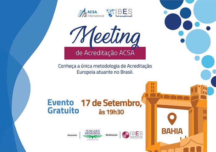 Meeting de Acreditação ACSA - Salvador/BA