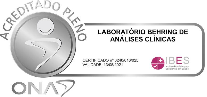 Laboratório Behring - Acreditado Pleno