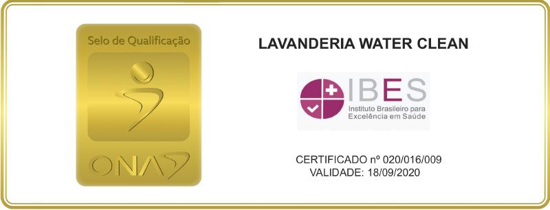 Lavanderia Water Clean - selo de qualificação