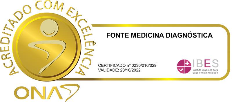 Fonte Medicina Diagnóstica - Acreditado com excelência