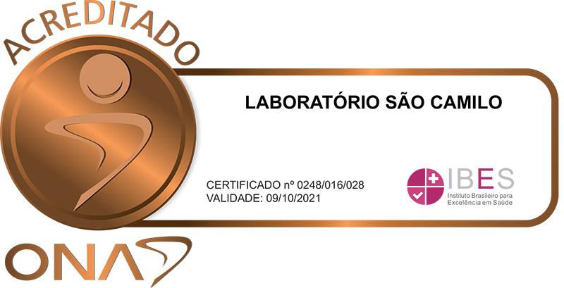 Laboratório São Camilo - Acreditado nível 1