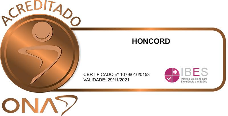 HONCORD - SELO DE QUALIFICAÇÃO