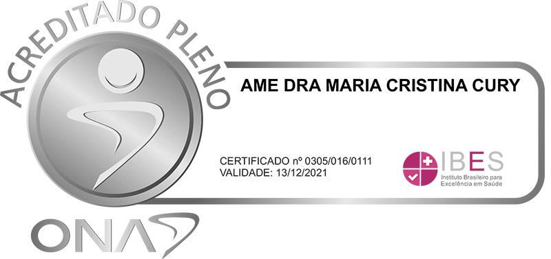 AME Dra Maria Cristina Cury - Acreditado Pleno